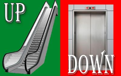 Escalator Up, Elevator Down