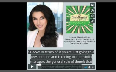 CIO Shana Sissel joins The Intelligent Investing Podcast to discuss her career path